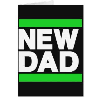 New Dad Green Greeting Card
