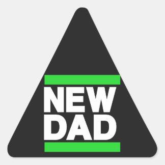 New Dad Green Triangle Sticker