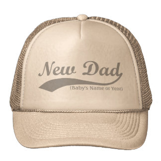 New Dad Hat, Personalized s Name or Year Trucker Hat
