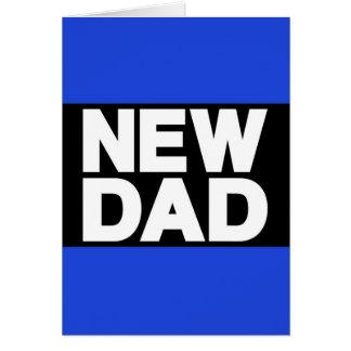 New Dad Lg Blue Greeting Card