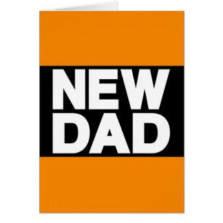 New Dad Lg Orange Cards