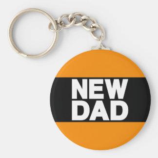 New Dad Lg Orange Key Chain