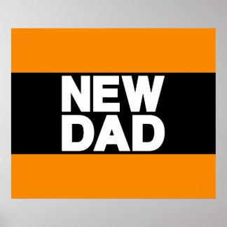 New Dad Lg Orange Posters