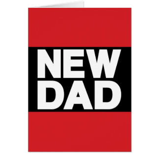New Dad Lg Red Greeting Card