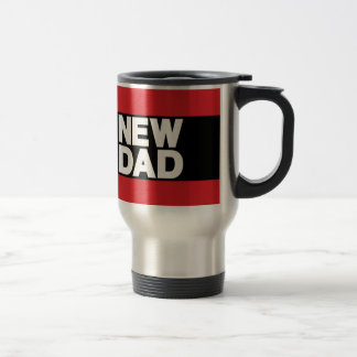 New Dad Lg Red Stainless Steel Travel Mug