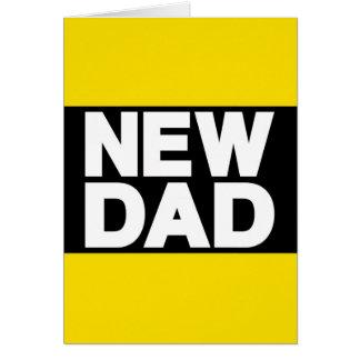 New Dad Lg Yellow Greeting Card