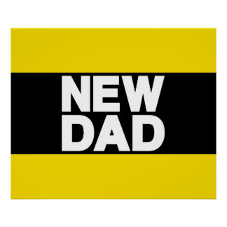 New Dad Lg Yellow Print