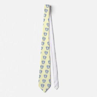 New Dad - Little Blue Feet Neck Tie