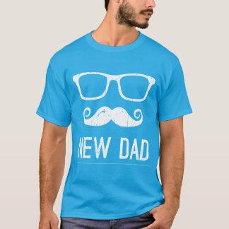 New Dad Mustache Nerd Glass Hipster Dark T-Shirt