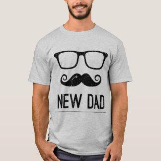 New Dad Mustache Nerd Glass Hipster T-Shirt