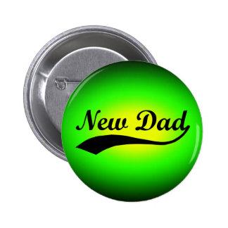 New Dad, Neon Green/Black Button