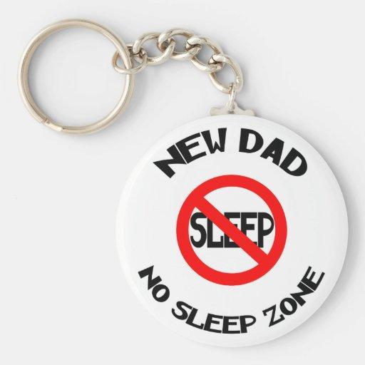 New Dad No Sleep Gift Basic Round Button Keychain