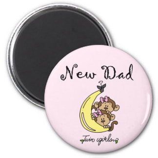 New Dad of Twin Girls Tshirts and Gifts Magnet
