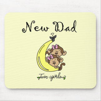 New Dad of Twin Girls Tshirts and Gifts Mouse Pad