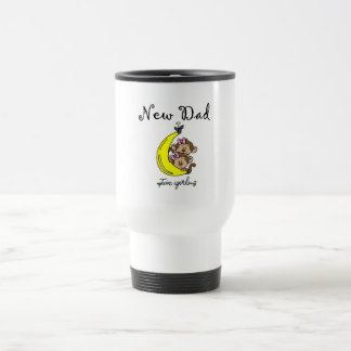New Dad of Twin Girls Tshirts and Gifts Travel Mug