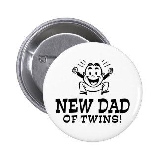 New Dad of Twins Buttons