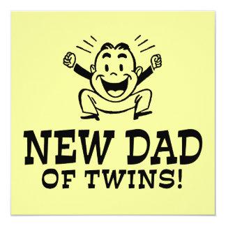 New Dad of Twins Custom Invitations
