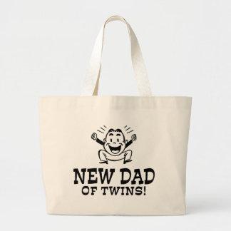 New Dad of Twins Jumbo Tote Bag