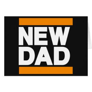 New Dad Orange Greeting Card