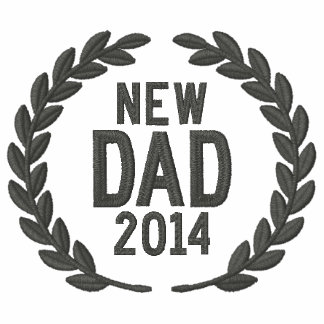 New Dad Personalize YEAR Laurels Embroidery Embroidered Polo Shirt