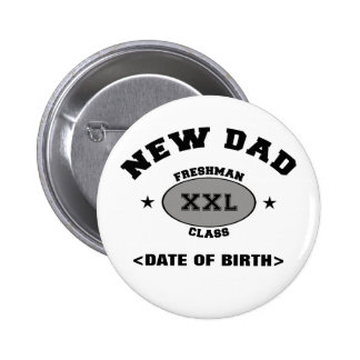 New Dad Personalized Gift XXL 2 Inch Round Button