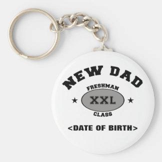 New Dad Personalized Gift XXL Keychain