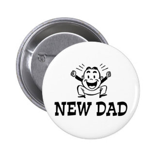 New Dad Pinback Button