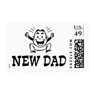 New Dad Postage Stamp