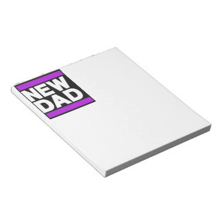 New Dad Purple Notepad