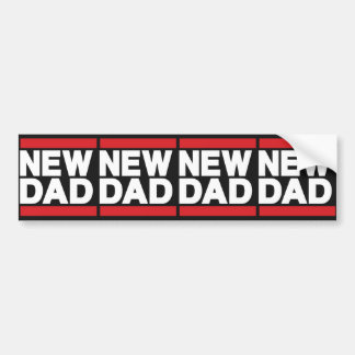 New Dad Red Bumper Stickers