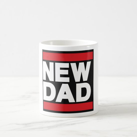 New Dad Red Coffee Mug