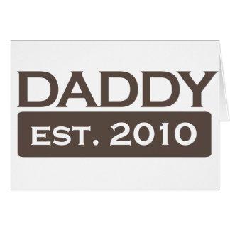 new dad shirts daddy established 2010 card