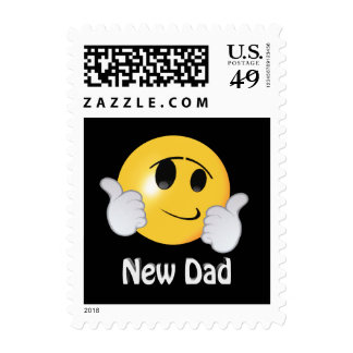 New Dad Smiley Postage Stamp