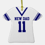 New Dad Sport Jersey with Photo Christmas Tree Ornaments