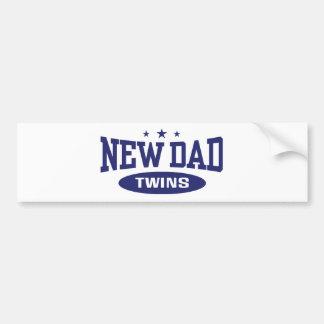 New Dad Twins Bumper Sticker