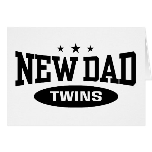 New Dad Twins Greeting Card