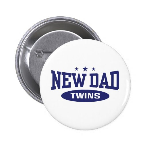 New Dad Twins Pinback Button