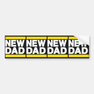 New Dad Yellow Bumper Stickers