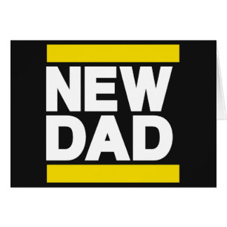 New Dad Yellow Greeting Cards