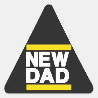 New Dad Yellow Triangle Sticker