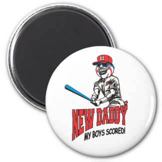 New Daddy 2011 My Boys Scored 2 Inch Round Magnet