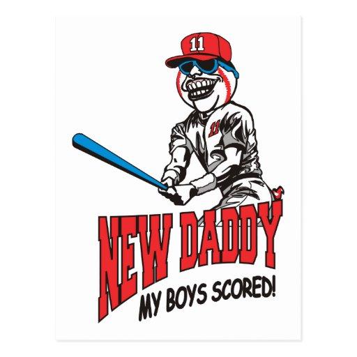 New Daddy 2011 My Boys Scored Postcard