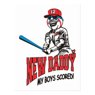 New Daddy 2012 My Boys Scored Postcard
