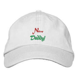 New, Daddy!-Embroidered Hay Baseball Cap
