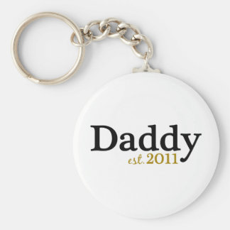 New Daddy est 2011 Keychain
