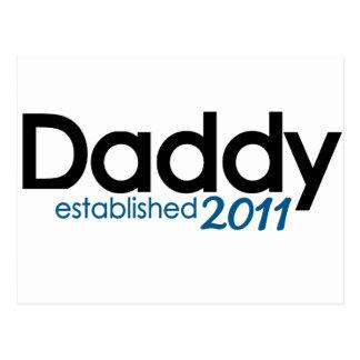 New Daddy Established 2011 Postcard