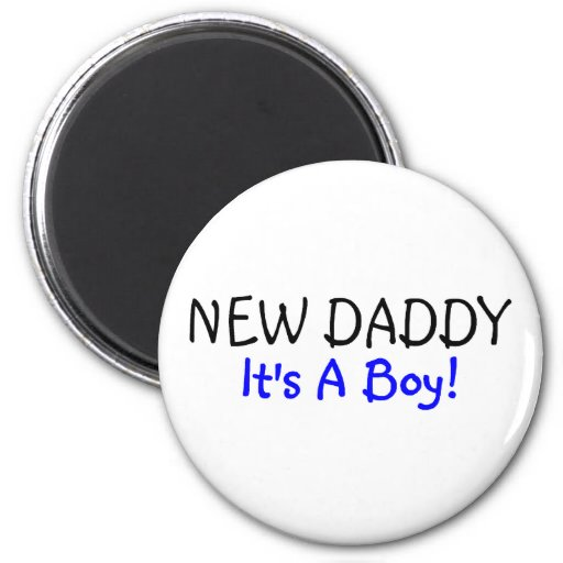 New Daddy Its A Boy Blue Magnets