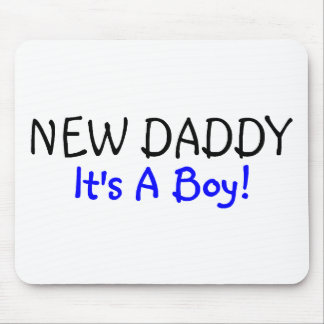 New Daddy Its A Boy Blue Mouse Pad