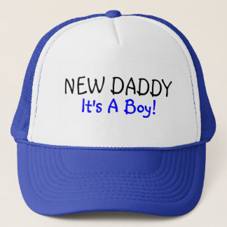 New Daddy Its A Boy Blue Trucker Hat