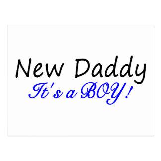 New Daddy Its A Boy Postcard